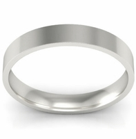 Flat Wedding Band for Men