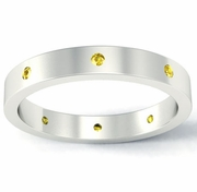 Flat Yellow Sapphire Landmark Eternity Ring