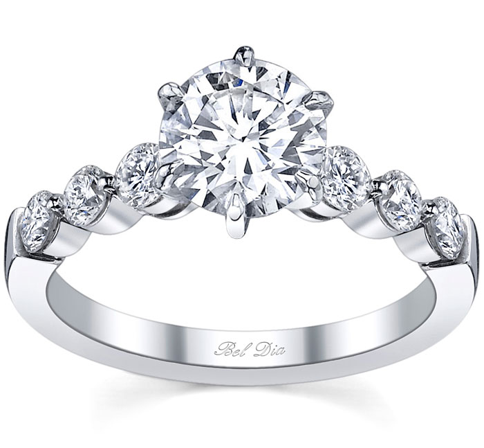 Floating Diamond Engagement Ring - click to enlarge