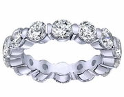 Floating Diamond Eternity Ring in Gold or Platinum