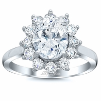 Floral Halo Engagement Ring Setting