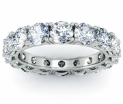Four Carat Diamond 4 Prong Eternity Ring