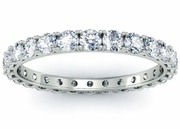 Four Prong Round Diamond Eternity Band