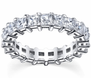 GH-SI Prong-Set Princess-Cut Diamond Eternity Ring