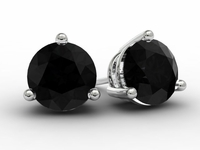Gold Black Diamond Earrings