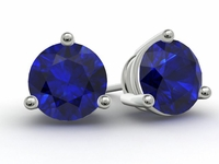 Gold Blue Sapphire Earrings