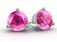 Gold Pink Sapphire Earrings