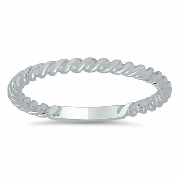 Gold Rope Wedding Band - click to enlarge