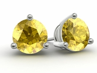 Gold Yellow Sapphire Earrings