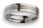 Grooved Titanium Ring for Men or Women 6mm