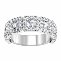 Halo Half Eternity Ring