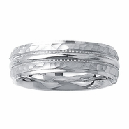 Hammered Mens Wedding Ring