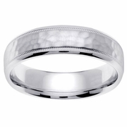 Hammered Wedding Ring 6mm
