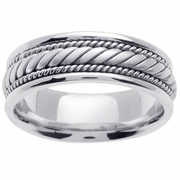 Handmade Mens Platinum Band