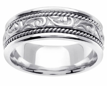 Handmade Mens Platinum Ring - click to enlarge