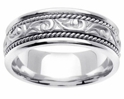 Handmade Mens Platinum Ring