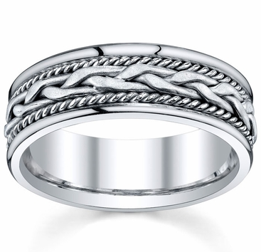 Handmade Platinum Ring for Men - click to enlarge