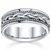 Handmade Platinum Ring for Men