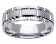 Handmade Wedding Band for Men in Platinum
