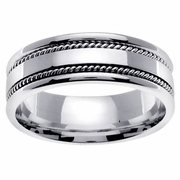 Handmade Wedding Ring in Platinum