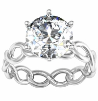Infinity Engagement Ring with Twisted Shank