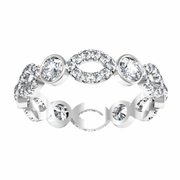 Infinity Style Bezel Eternity Ring