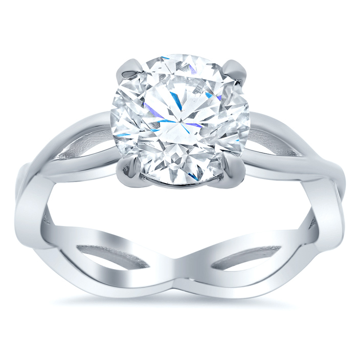 Infinity Style Solitaire Engagement Ring
