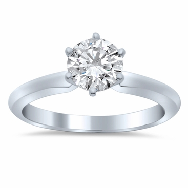 Knife Edge Solitaire Setting in 3.0mm Width - click to enlarge