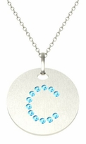 Aquamarine Letter Pendant Necklace