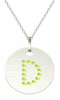 Initial Peridot Pendant Necklace