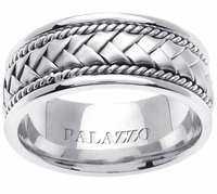 Men's Palladium Band with Handmade Braid