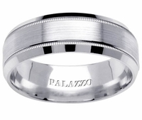 Men's Palladium Ring Milgrain 7mm