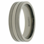 Mens Aircraft Grade Titanium Ring in 7mm