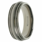 Mens Aircraft Grade Titanium Wedding Band in 7mm