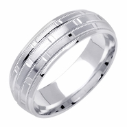 Mens Designer Wedding Band in 14kt Gold