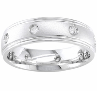 Mens Diamond Band 0.16 cttw