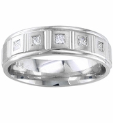 Mens Diamond Ring 0.25cttw Princess