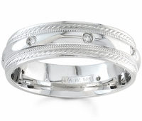Mens Diamond Ring Fancy Design