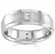 Mens Diamond Ring in Gold or Platinum