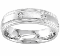 Mens Diamond Ring with Milgrain