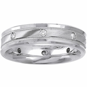 Mens Diamond Wedding Band 0.24cttw