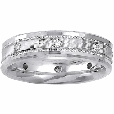 Mens Diamond Wedding Band 0.24cttw - click to enlarge
