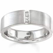 Mens Diamond Wedding Band 0.24cttw Gold or Platinum