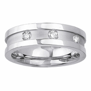 Mens Diamond Wedding Band in 7mm 0.12cttw