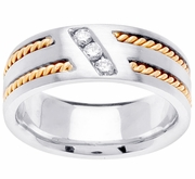 Mens Diamond Wedding Ring (0.15cttw)