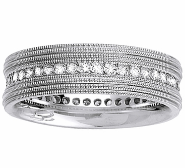 Mens Diamond Wedding Ring - click to enlarge