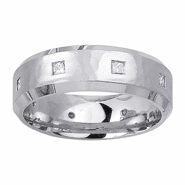 Mens Diamond Wedding Ring in 7mm 0.40cttw - click to enlarge