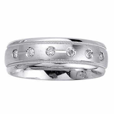 Mens Diamond Wedding Ring in 7mm 0.48cttw - click to enlarge