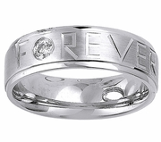 Mens Forever Diamond Wedding Ring (0.12cttw)