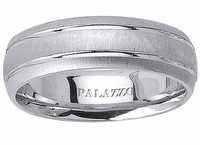 Mens Palladium Ring Grooves Dual Finish